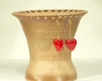 Earring Bowl, Ion Moon Shino Glaze, Ceramic, bracelet holder, handmade, Jewelry Organizer, MJS, 105