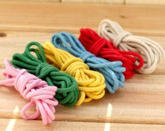 "Pretty Cotton Rope Decorative Rope Cotton Cord 6 Root 2 Yards "" Each"