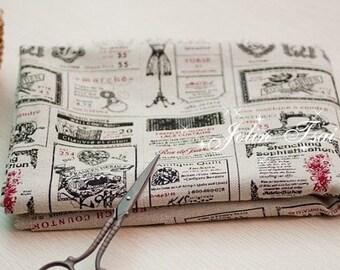 Cotton Linen Fabric Cloth -DIY Cloth Art Manual Cloth -Zakka Things  59x19 Inches