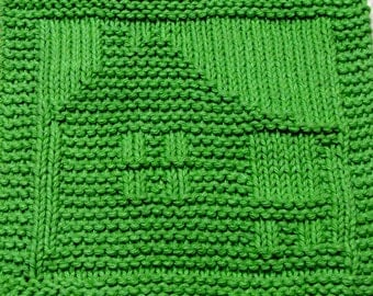 Knitting Cloth Pattern - HOUSE - PDF - Instant Download