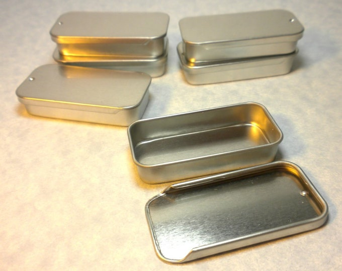 50 Slider Tins - Smaller size - Use for your Lip Balm Pendants and other Gifts and Goodies