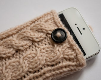 Oatmeal Double Cable Knit Phone Case (iPhone 3/4/4S/5/5S/5C/6/6+/7/7+)