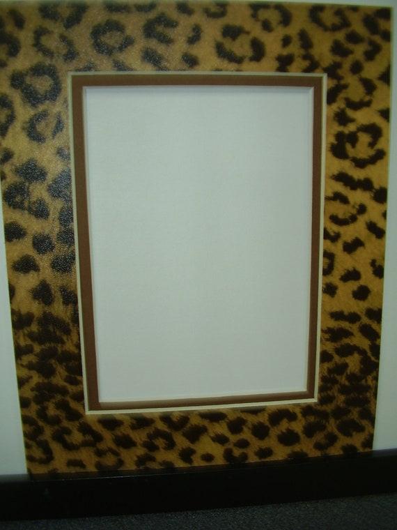 Picture Frame Mat Leopard Cheetah Jaguar Animal Print With