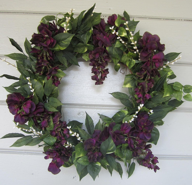 Floral Wreath Grapevine Wreath Door Wreath Spring Wreath
