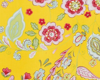 Pretty Little Things Fabric Emma in Yellow Dena Designs One Yard
