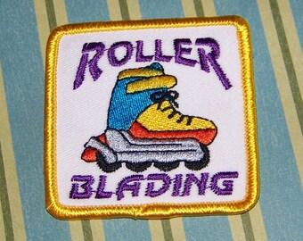 Roller Blading Retro Patch