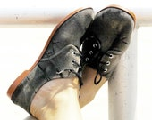 Hand dyed BLACK canvas shoes