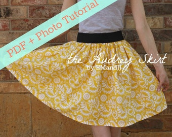 PDF // Photo Tutorial for the Audrey Skirt by EMandJJ (Women's/Teen Skirt Sewing Pattern)