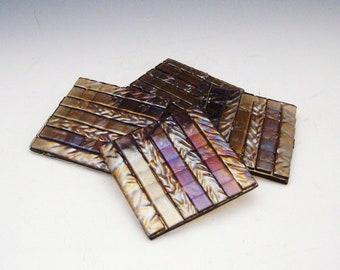 Brown Weave Coasters (set of 4)