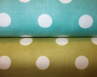 MODA - Dottie in Aqua and Green - 2 half yard cuts
