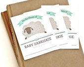 Personalized Bookplates, Baby Shower Bookplate // LITTLE LAMB