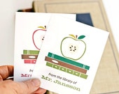 Teacher Bookplates, Personalized Bookplates, Teacher Gift // Apple of My Eye