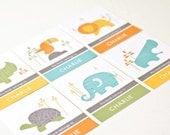 Personalized Bookplates, Childrens Bookplate Stickers // SAFARI MIX