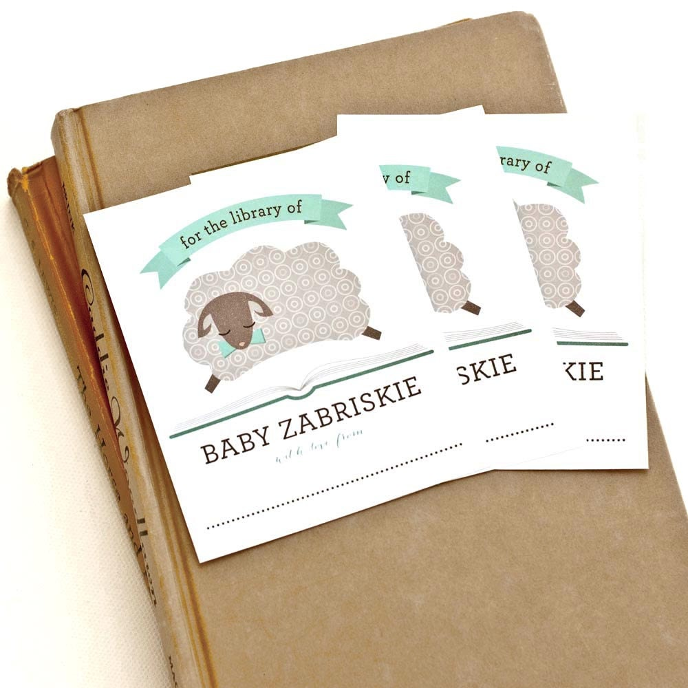 Personalized Bookplates Baby Shower Bookplate // By PeraPress