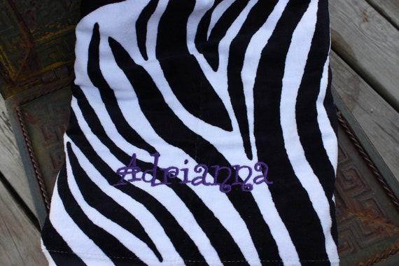 Personalized ZEBRA Beach Towels