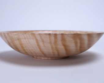 "Quilted Ambrosia Maple Wooden Bowl #946 8 1/8"" X 2"""