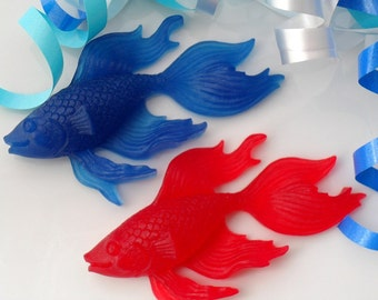 10 FISH SOAP FAVORS - Fish Party Favor, Fish Birthday Party, Tropical Baby Shower, Beach Bridal Shower, Betta Fish (Favor Tags Included)