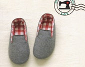 Woman Indoor Shoes/House Slippers (No.01) PDF Sewing Pattern, Size 5-11
