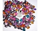 200pc bulk lot 14x10 faceted acrylic cabochons plastic stone mix Kawaii Cabochon Decoden destash grab bag cabochons jewels fairy kei  505x
