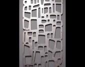 MOD ROCKS Wall Art 23 X 46 Hand-Brushed Aluminum