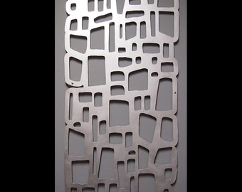 MOD ROCKS Wall Art 23 X 46 Hand-Brushed Aluminum