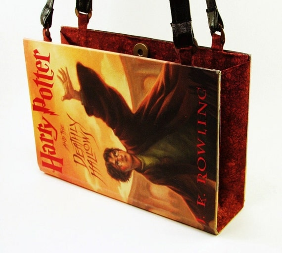 Book Purse, Book Clutch, Harry Potter, Deathly Hallows, Fun Fashion Accessory