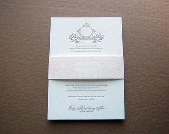 Letterpressed Wedding Invitations - Jessica