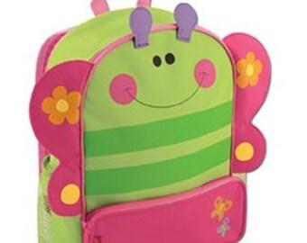 Personalized Stephen Joseph Sidekicks Backpack-Butterfly