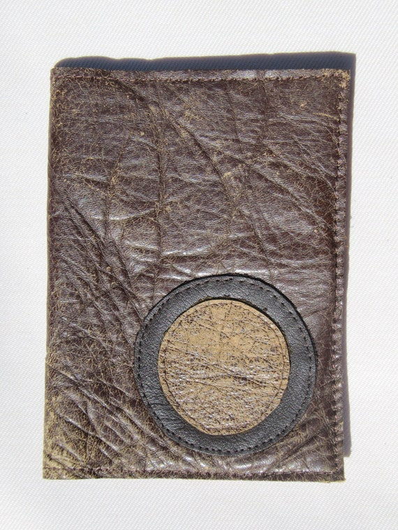 Passport and Card Holder - Brown with circle