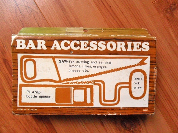Vintage carpenters tools bar accessories japan gag gift novelty funny bar ware