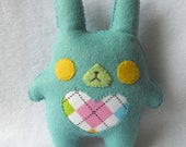 30% OFF Blue Chubby Bunny Plush by Michelle Coffee