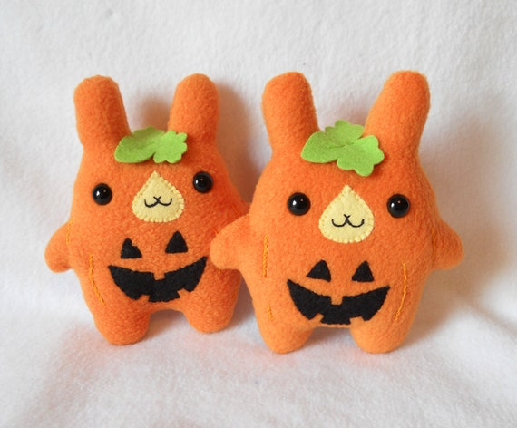 SALE 30% OFF Jack-O-Lantern Bunny Plush by Michelle Coffee