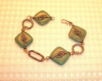 Copper Rosette Bracelet FREE SHIPPING
