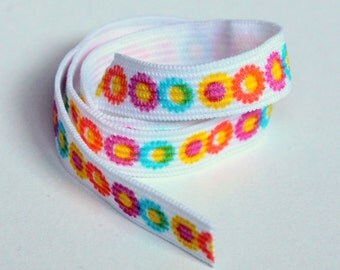 Flower Print Elastic, 10 yds Half Inch Wide Elastic, Sewing Notions, elas008/10