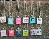 Photography -- Scrabble Tile Necklace You Choose Pendant