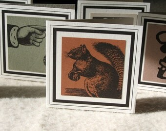 SQUIRREL GIFT TAG with tie blank