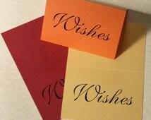 Wishes Wedding Guest Book Card, Wedding Guest Card, DEPOSIT