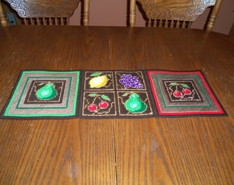 Fruit Table Runner and Coaster Set