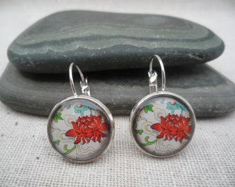 Lotus Earrings Lotus Jewelry Unique Simple Flower Earrings Everyday Flower Jewelry