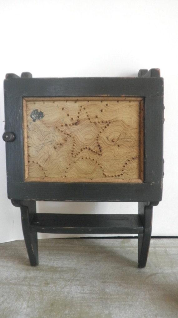 Antique Farm Cabinet Tin Insert