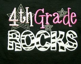 4th Grade Rocks Fourth Grade Rocks School Shirt