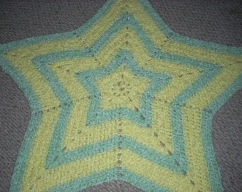 Wish Upon A Star Blanket (Yellow and Green)
