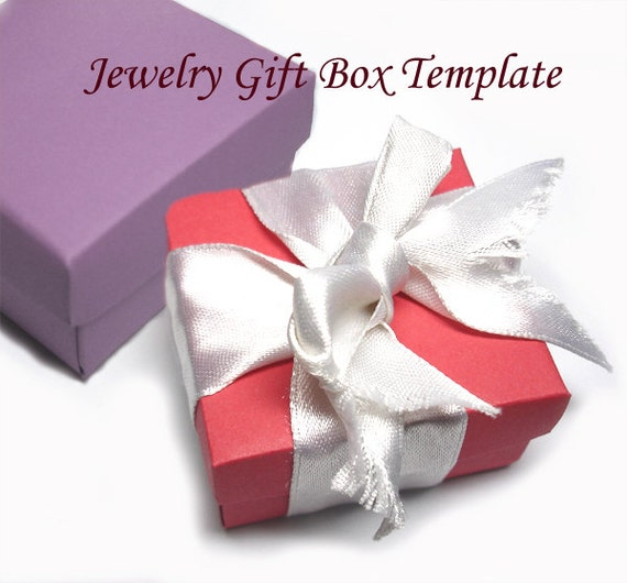 printable gift boxes template printable square jewelry gift box 2767