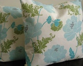 Throw Pillow Covers 20x20 - Tranquil Floral Set of 2