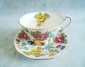 Royal Standard Tea Cup and Saucer - Cabbage Rose Teacup and Saucer Set - Vintage English Tea Cups and Saucers