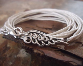 ANGELITO wrap bracelet with angel wing