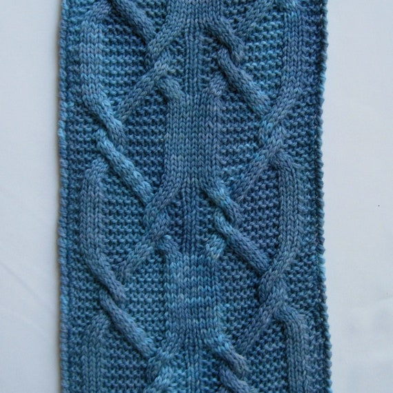 Cable Hook Knitting : Knit scarf pattern latch hook cable turtleneck