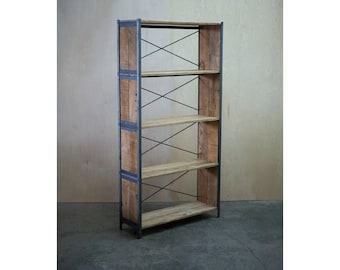 "Reclaimed Wood ""Panel Topanga Bookcase"""