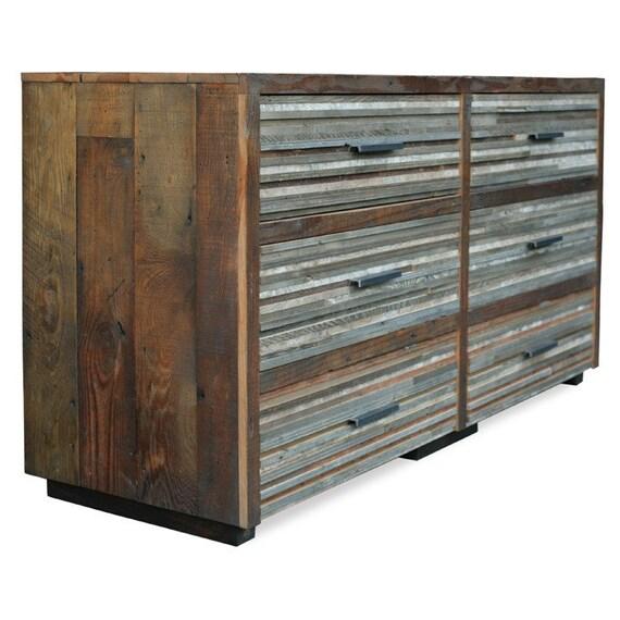 Beautiful Lake Tahoe Reclaimed 6 drawer Dresser / Chest CUSTOM for M
