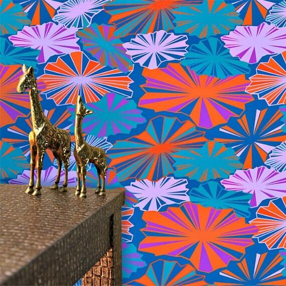 Wallpaper in Brella's Pattern 5 colorways